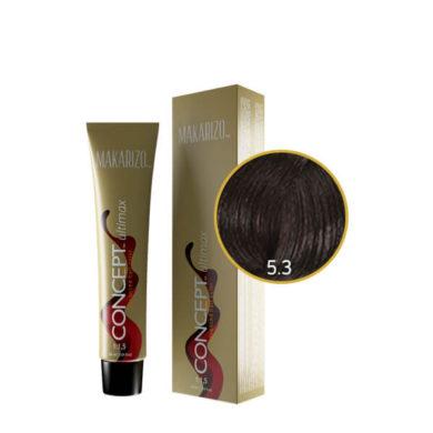 Concept Ultimax Advanced Hair Color 5.3 Light Golden Chestnut Tube 60 gr